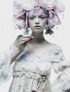 """""""Couture's Flight of Fancy"""" for Harper's Bazaar"""