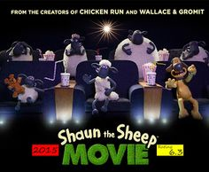 'Shaun The Sheep' Trailer, Images And Posters Shaun The Sheep, Chicken Runs, 2015 Movies, Movie Theater, Bobble Head, The Creator, Animation, Concert, Movie Posters