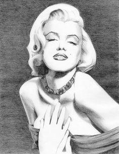Marilyn Monroe drawing by Eniko Tanyi
