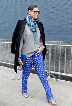 Jenna Lyon's Street Style - New York Fashion Week Fall 2014 - Elle New York Fashion, Fashion Week, Star Fashion, Fashion Pants, Street Fashion, Fashion Bloggers, Daily Fashion, Fashion Brand, Street Look