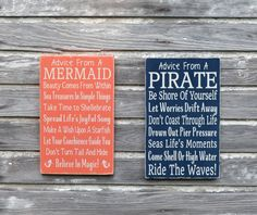 Nautical Nursery Sign Kids Room Wall Art Advice From A Pirate Custom Beach Plaque Decor Coastal Theme Bedroom Gift Bathroom Ocean Childrens