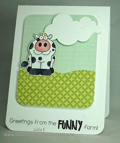 Stamps - YNSThe Funny Farm Crewand YNSFunny Farm Animal Sentiments Die - YNS Puffy Cloud Dies