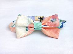 Men's floral bow tie LIMITED EDITION  handmade by KristineBridal