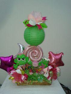 arreglo para cumpleaños pedido especial con ranas