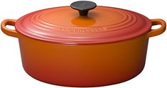 Le Creuset Enameled CastIron 634Quart Oval French Oven Flame -- Continue to the product at the image link.
