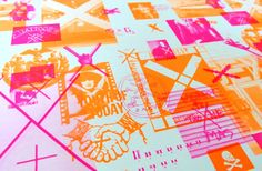 AIGA New York Gift Wrap Collection | Paperspecs. The 2013 holiday party for the New York chapter of AIGA and an orgy of gift wrap that we're sure ended up being used as posters too.