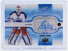Grant Fuhr SS-GF UpperDeck Ice Signature Swatches Auto Autographed Signed Oilers #EdmontonOilers
