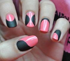 unique pink and black designs - matte vs. shiny