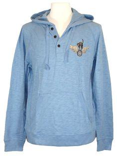 NEW Lucky Brand Mens Shirt Hoodie 13 BANDITS California Logo Knit Cotton Blue XL #LuckyBrand #Hoodie