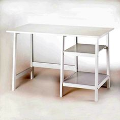 WORKSTATION DESK by Accent Plus Whether you 're working or studying at home, check off your to-do list at this classic white workstation desk. Simplicity in style with all the space you need for the task at hand.  Due to the size and weight of this item, we are ONLY able to ship it within the Continental United States, to physical address locations, and only via UPS Ground. Shipping to Canada is available.