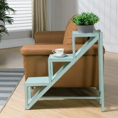 furniture muebles Coast To Coast Imports Stair Step Accent Table In Kimberely Weathered Blue 67436 Pallet Furniture, Furniture Projects, Living Room Furniture, Home Furniture, Outdoor Furniture Sets, Furniture Design, Antique Furniture, Modern Furniture, Rustic Furniture