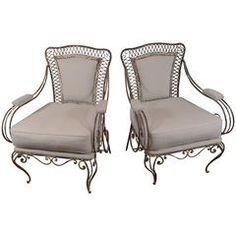 French Iron Garden Chairs, circa 1920