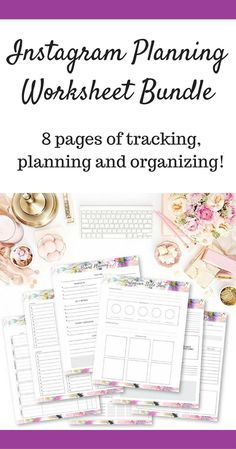 This Instagram Planning Worksheet Bundle is 8 pages of planning to help you maximize your Instagram content and audience reach. #ad #SOCIALMEDIA #socialmediamarketing #socialmediatips #social #instagram #blogging #bloggers #bloggerstyle #bloggerlife #blogposts #blogplanners #blogplanning #blogplan #contentmarketing #contentstrategy #content #calendar #Printable #printableplanner #instantdownload #digitaldownload #digital #instagramers