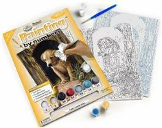 Royal & Langnickel Painting by Numbers Junior Small Art Activity Kit, Labrador Puppy by Royal & Langnickel. $7.03. Board size is 8-3/4-inch by 11-3/4-inch. Constructed of quality artist materials. Includes 1 pre-printed artist board, 1 pre-printed practice sheet, 7 acrylic paint pots and 1 paint brush. Complete paint by number kit for ages 8 and up. Simply follow the numbers. Royal & Langnickel has created a brilliant project for all ages. The painting by numbers k...