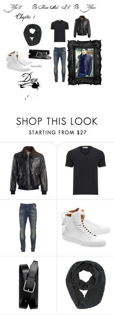 """""""Dan~YBMAIBY:Chapter 1"""" by wisteriaflower ❤ liked on Polyvore featuring Brunello Cucinelli, Versace, Scotch & Soda, BUSCEMI, Banana Republic, men's fashion and menswear"""