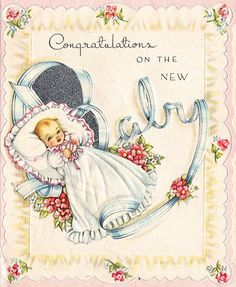 OMGosh, I am 65 and this IS a card my mother received and it is in my baby book.