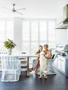 Take a tour of this family home in Canberra that draws inspiration from holidays in the Hamptons.