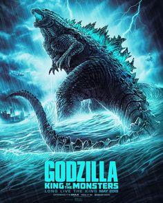 Image du film Godzilla: King of the Monsters (Michael Dougherty) de Joel Jensen All Godzilla Monsters, Godzilla Toys, Godzilla Comics, King Kong Skull Island, Godzilla Birthday Party, King Kong Vs Godzilla, Godzilla Tattoo, Godzilla Wallpaper, Draw On Photos