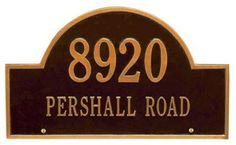 Arch Two-Line Standard Lawn Address Plaque - standard/2 line, Oil Rubbed Bronze by Home Decorators Collection. $79.00