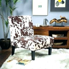 Noble House Cassie Contemporary Fabric Slipper Accent Chair, Cow Print and Matte Black Cow Print Chair, Cow Print Fabric, Upholstered Accent Chairs, Chair Upholstery, Chair Cushions, Pillows, Fabric Dining Chairs, Dining Chair Set, Furniture