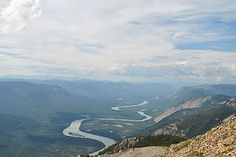 The Nahanni river, above the falls.