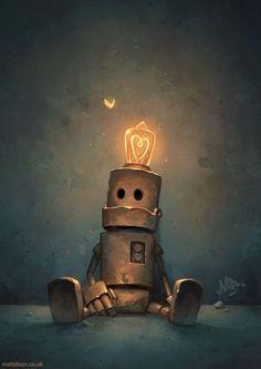 Homepage for illustrator Matt Dixon. Creator of the Transmissions series of robot artwork. Arte Robot, Robot Art, World Of Fantasy, Fantasy Art, Matt Dixon, Character Concept, Concept Art, 3d Character, Amazing Art