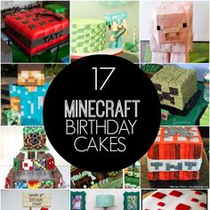 Do you have a Minecraft gamer in your house? You've gotta see this round-up of Awesome Minecraft Birthday Cakes!