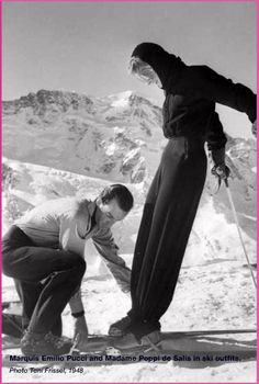 229a0cf3ae Pucci photographed by Toni Frissel – a photographer for Harper s Bazaar. Ski  Vintage