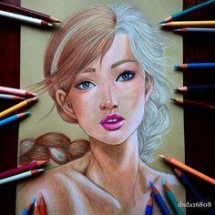 Garota cria lindos desenhos que levam até 10 horas para ficar prontos - Bons Tutoriais
