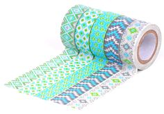 AmazonSmile: HIART Repositionable Washi Tape, Southwest Sizzle, Green, Set of 5