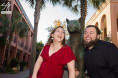 Fun engagement photos at the College of Charleston, South Carolina 2014 sarah goldman photography