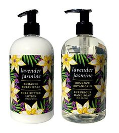 Greenwich Bay Lavender Jasmine Shea Butter ROMANCE COLLECTION Hand & Body Lotion and Lavender Jasmine Hand Soap, Enriched with Shea Butter, Cocoa Butter & Botanical Oils Duo Set (16 oz each) by Greenwich Bay Trading Company -- Awesome products selected by Anna Churchill