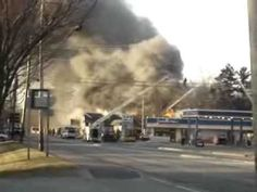 April 11, 2006 last year this fire was right behind the Cumberland farms in Topsham Maine.