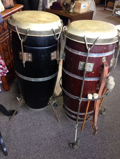You can beat this!  Vintage Conga drums...$50 each #congadrum