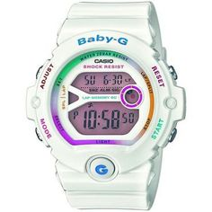 White Baby-G Coloured Digital Dial Running Chronograph Watch BG-6903-7CER: A lightweight coloured dial in a white resin case, that has an LED light for easy reading with auto illuminator. This watch also has many more other features. https://www.uksportsoutdoors.com/product/confidence-pro-2-in-1-cross-trainer-black/