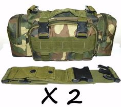 Two Woodland Camo Molle Outdoor Survival Military Utility Pouches Wit h Straps. Iuse this Molle Pouch for my. versatility ; I'm also a fan of the classic Woodland Camo Color. It has four different compartments that help separate my survival ge ar into categories. | eBay!