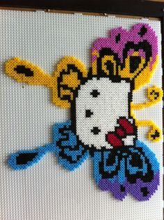Butterfly Hello Kitty hama beads by maggy79
