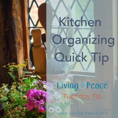 In today's Tuesday tip, Melissa Belliard, Living Peace professional organizer talks about using counter space and organizing a corner on your counter for use according to need and frequently …