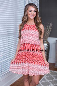 Make Me Wonder Red and White Dress
