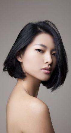 Image result for sleek short asian bob
