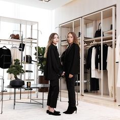 New Instagram spottings of Mary-Kate and Ashley Olsen at a Lane Crawford and The Row event. #style #fashion #olsentwins