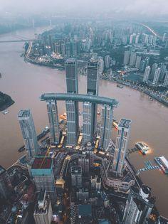 Facade Engineering, Singapore Guide, Chongqing China, Sky Bridge, Sands Resort, Indoor Waterfall, Amiens, Tower Building, City Aesthetic