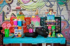 Boy's Grafitti Themed Birthday Party Ideas
