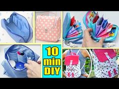 4 DIY BAG TUTORIALS // Make for Yourself or Sell and Make Money - YouTube Diy Crafts Tv, Diy Tv, Fabric Crafts, Sewing Crafts, Diy Bags Tutorial, Bag Tutorials, Crafts To Make And Sell, How To Make Money, Making Money On Youtube