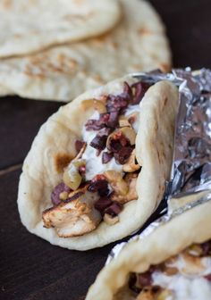 Chicken Gyro with Tzatziki Sauce