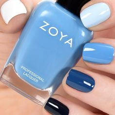 Blue Ombre Zoya Purity, Blu, Yummy, Edie, Ryan