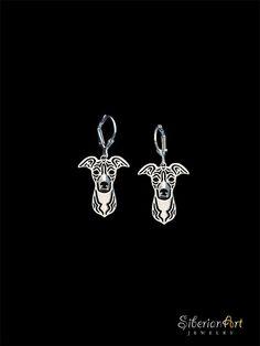 Italian Greyhound earrings - sterling silver
