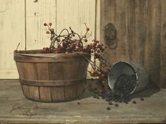Image detail for -Gathering Berries by Billy Jacobs - Art Print Framed & Unframed at www ...
