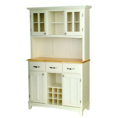 Target Buffey With 2 Door Hutch White Natural Reviews Say It Is Off