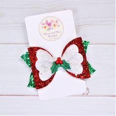 Christmas Hair Clips Glitter Santa Slide Grips Snap Hairpins Stocking Fillers